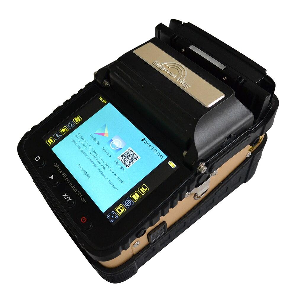 Signalfire AI-8 SM & MM automática la FTTH fibra óptica de soldadura máquina de empalme de 6 motores de fibra óptica empalmador de fusión