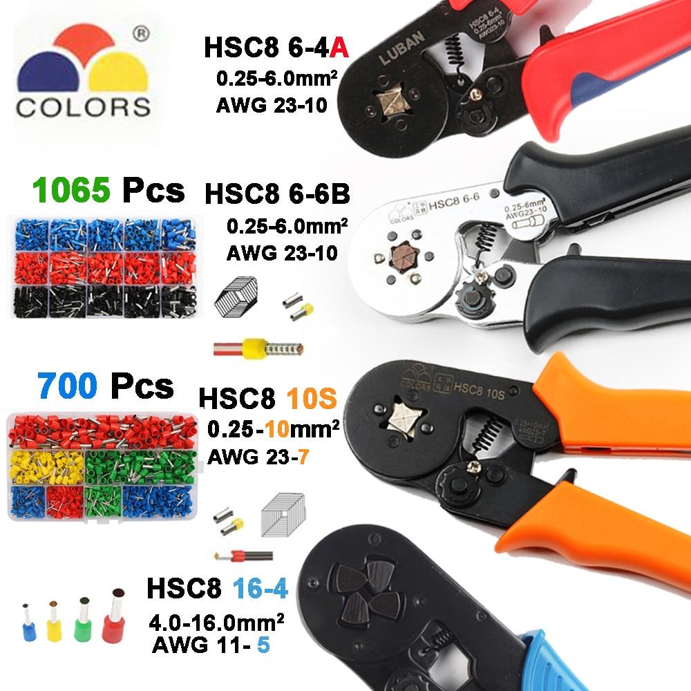 Werkzeuge HSC8 6-4 HSC8 6-6 SELBST-EINSTELLBARE MINI-TYP CRIMPEN ZANGE 0,25-6mm2 zangen handwerkzeuge terminals 16-4