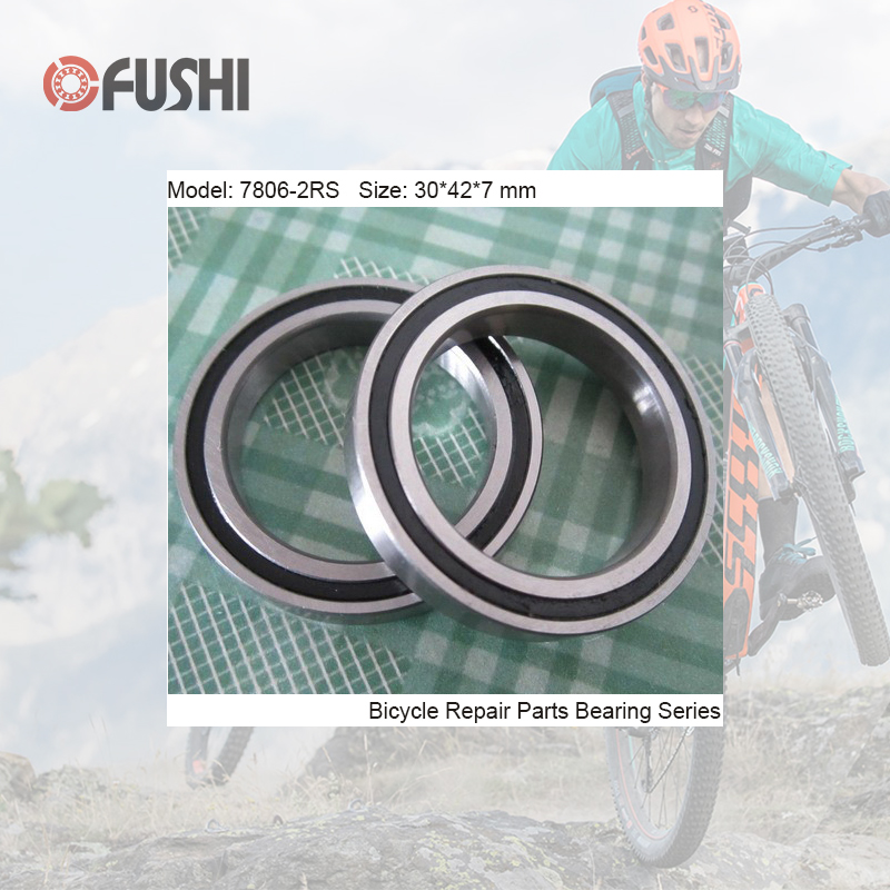 7806-2RS Bearing 30*42*7mm ( 1 PC) Balls Bicycle Bottom Bracket Repair Parts BB30 7806 2RS Angular Contact Ball Bearings 7806-RS7806-2RS Bearing 30*42*7mm ( 1 PC) Balls Bicycle Bottom Bracket Repair Parts BB30 7806 2RS Angular Contact Ball Bearings 7806-RS