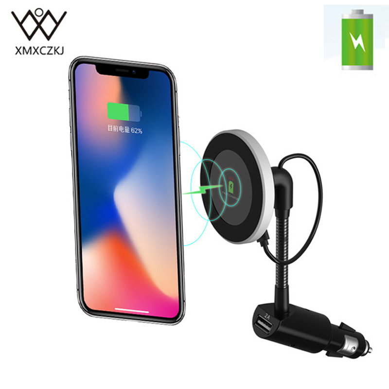 XMXCZKJ Qi Wireless Car Charger Magnetic Holder Wireless Charging Mount Support For iPhone XS Holder Mobile Phone Accessories