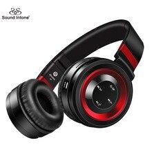 Som entoar p6 fones de ouvido sem fio fones de ouvido bluetooth com mic o apoio tf cartão de rádio fm para o iphone samsung xiaomi huawei