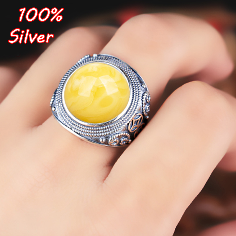 Sterling Silver 925 Antique Silver 11mm Cabochon Rings for Amber Opal Agate Turquoise Fine Jewelry Wholesale все цены
