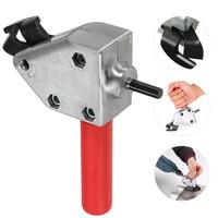 VOTO Nibbler Metal Cutter Heet Nibbler Metal Cutting Double Head 360 Degree Cordless Drill Nibbler Bit Plate Open Hole Drill