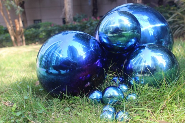 150 Mm In Diameter Blue Stainless Steel Ball,hollow Ball,decoration Ball ,Interior