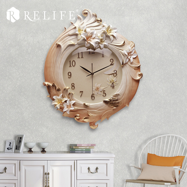 European New Design Circular Large Wall Clock Digital Wall Watch for Living Room Home Decor