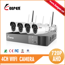 KEEPER Mini Wireless NVR Kit P2P 720P HD IPC WIFI KIT Outdoor IR Night Vision IP Camera WIFI CCTV System Support 4TB HDD