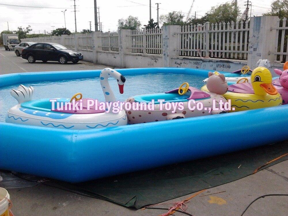 Nouvelle glissière d'eau gonflable de conception, parc à thème géant extérieur de dinosaure de l'eau à vendre 6X8X0.5m
