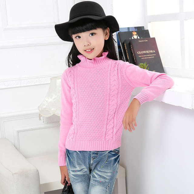 a93e5b55c Free Shipping winter kids Long Sleeve Shirts for girls Knitting ...