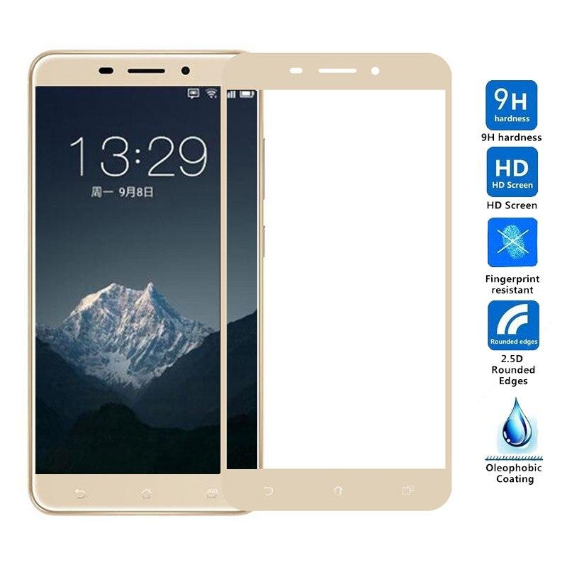 Полноэкранное цветное защитное закаленное стекло для телефона ASUS Zenfone 3 Max ZC520TL 3s ZC521TL ZE553KL ZE520KL ZC551KL ZE552KL