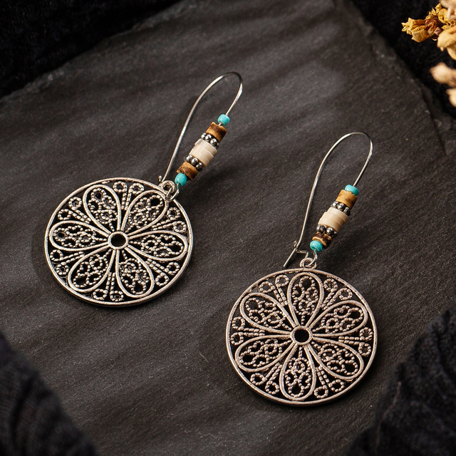 Multiple Vintage Ethnic Dangle Drop Earrings for Women Female Anniversary Bridal Party Wedding Jewelry Ornaments Accessories 6