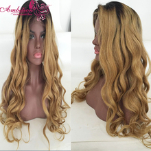 Best Quality T 1b 27 Ombre Human Hair Full Lace Wig Brazilian Virgin Hair Front Lace