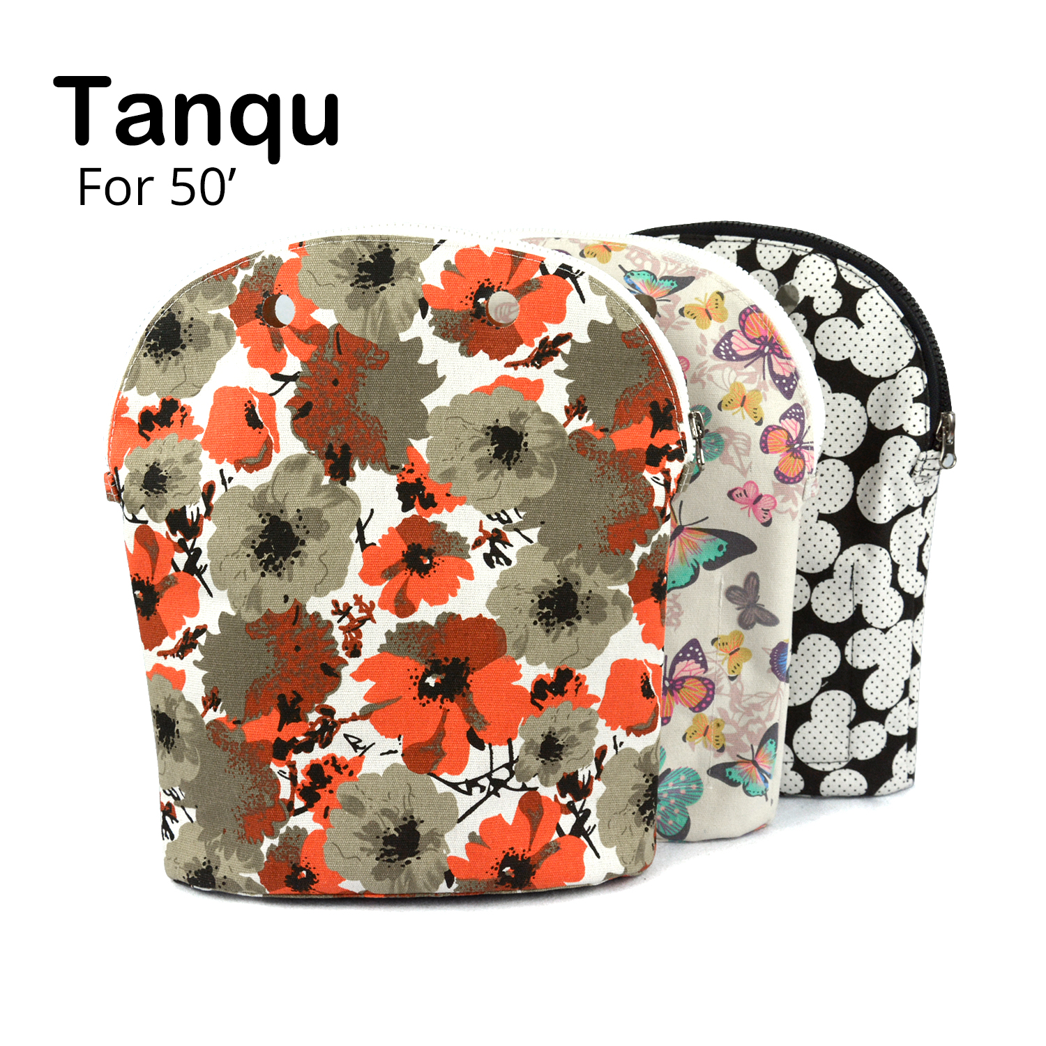 TANQU Colorful Inner Lining Zipper Pocket For Obag 50 Super Advanced Insert With Inner Waterproof Coating For O Bag 50