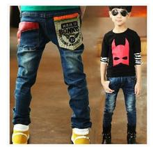 (A202)free shipping Retails 2014 NEW Children pants Spring Autumn Pure cotton kids pants boys Spring Autumn jeans