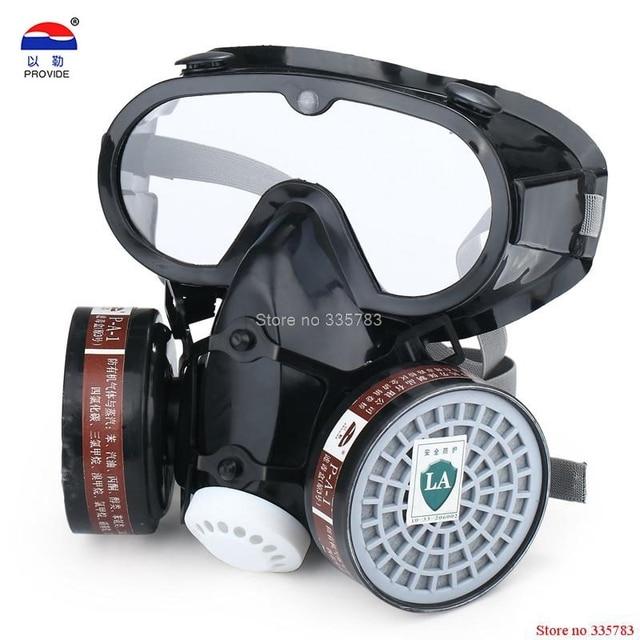 Masque À Gaz avec des lunettes de sécurité industrielle pesticides Par  Pulvérisation masque Yeux nez et c1b0995837af