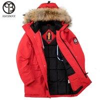 Asesmay 2018 зимняя куртка Для мужчин толстые теплые высокое качество Водонепроницаемый брендовая одежда для Для мужчин зимнее пальто человек у