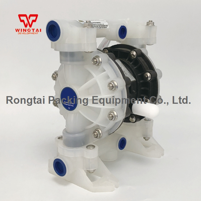 PTFE Diaphragm Pump 1/2 Plastic BML-15P Double Way liquid Diaphragm Pump 0.2~0.7MPa ink and solvent circulation pneumatic one way diaphragm pump bml 5