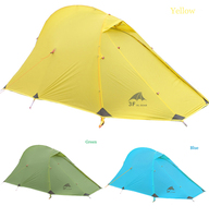 3F 15D Silicone Coated 4seasons 2 Persons 3color Double Layer Conqueror Ultralight Outdoor Aluminum Pole Camping