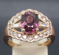 3.60CT одноцветное 14kt розовое золото ПРИРОДНЫЙ блестящие розовый турмалин. Кольцо