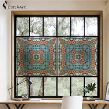 No glue colorful Window glass stickers opaque shading bedroom door decoration film window paper Retro styl