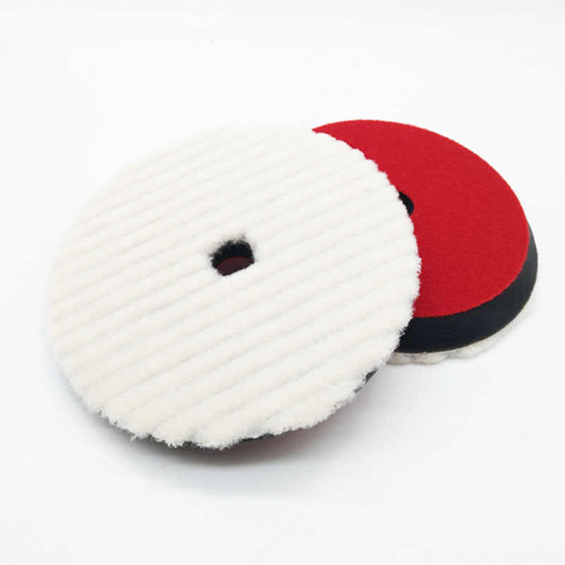 high quality rupesss shape japanese short wool polishing pad wool polishing disct(7inch or 6inch for choose)