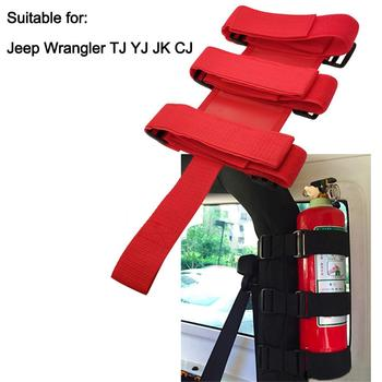 Wrangler Car Special Fire Extinguisher Nylon Strap Auto Fixed Holder Car Styling For Automobile Interior Safety Nylon Strap image