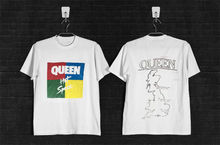 VINTAGE FREDDIE MERCURY 1982 QUEEN HOT SPACE TOUR T-SHIRT REPRINT T-Shirt Short Sleeve Fashion T shirt