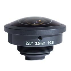 220 Degree Panoramic VR Camera Lens EFL3.5MM M4/3 Mount Ultra Angle Fisheye Lens for Somy RX0 C Mount Camera