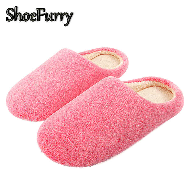 ShoeFurry Winter Fur Slippers Women