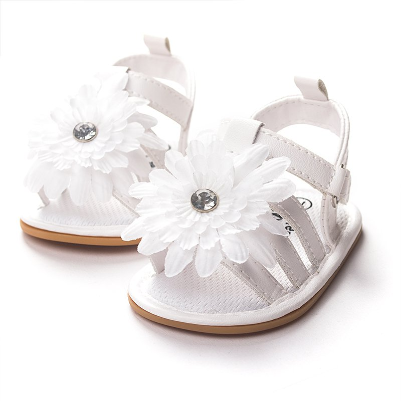 Flower Princess Sandals Baby Kids Summer Soft PU Leather Anti-Slip Shoes Sandal