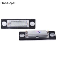 2Pcs White 3W 18 SMD Led Number License Plate Light Bulb For VW/Skoda SUPERB