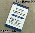 Новые Поступления 3700 мАч JY-S3/JY S3 аккумулятор для jiayu s3 Батарея глобальный бесплатная доставка