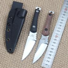 Tactical Straight Knife D2 Blade Material 60HRC High Hardness Flax Micarta Handle Kydex K Sheath Outdoor Tools Knives