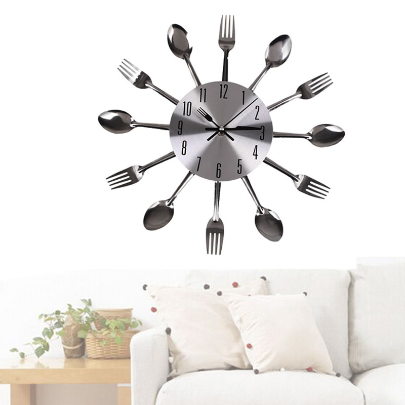 Online Get Cheap Stainless Steel Wall Clock  Aliexpress com   Fashion Creative Wall Clock Stainless Steel Spoon Forks Modern Design  Quartz Clocks Living Room Home Decorate. Clocks For Living Room. Home Design Ideas
