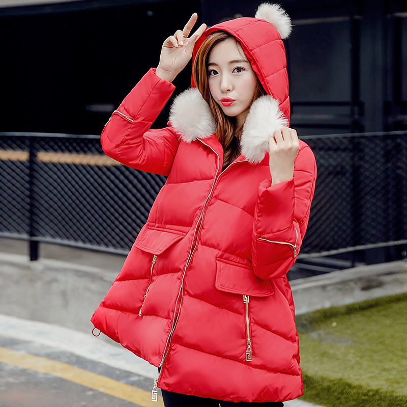 Jacket Coat Women Cotton Padded  Parkas Doll Collar Hoodies Coat Outwear 5 Colors New Winter Jacket Women Cute Overcoat C1255 free shipping winter girl stripe cute doll skirt cotton quilted jacket