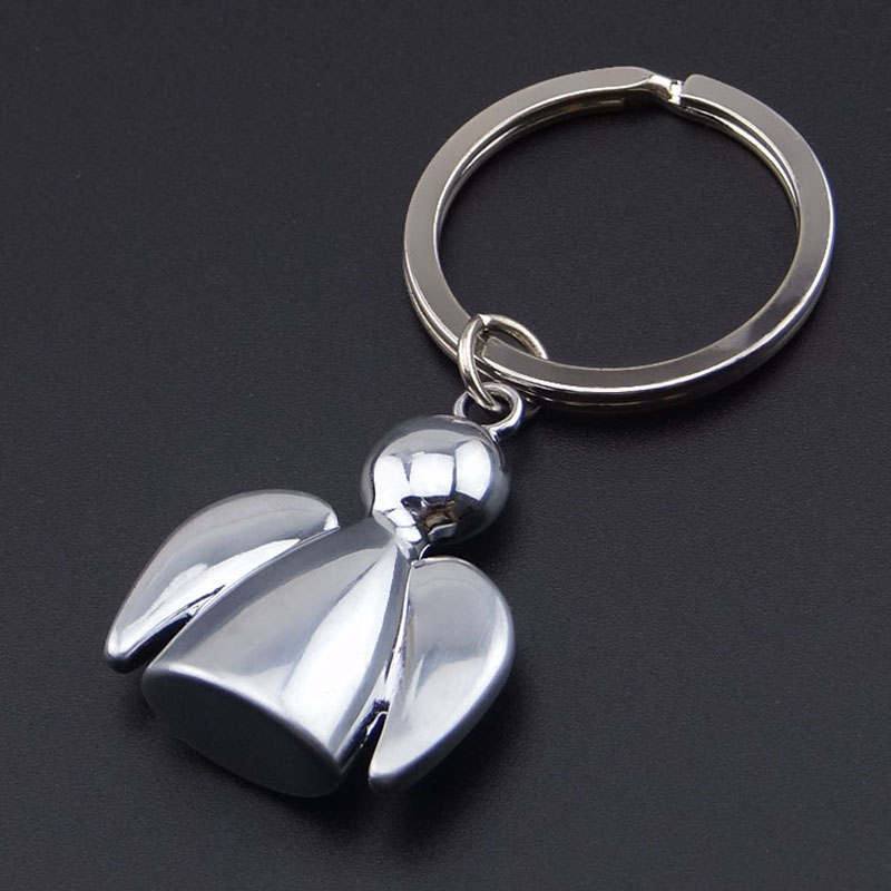 RE 50pcs/Lot Free Shipping Wholesale Cute Angle Key Chain Zinc Alloy Trendy Style Bag Car Keychain Keyring Key Holder-in Key Chains from Jewelry & Accessories    1