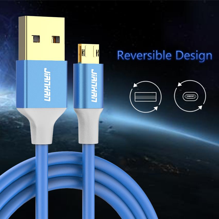 2 Pack Αναστρέψιμο Καλώδιο Micro USB 5V 2A - Ανταλλακτικά και αξεσουάρ κινητών τηλεφώνων - Φωτογραφία 2