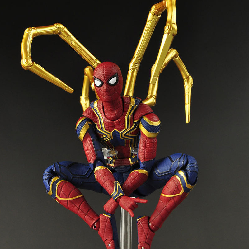 17cm Marvel 2019 the Avengers 3 Infinity War Iron Spider Man Amazing Spiderman Movable Action Figure model toys for Children 17cm Marvel 2019 the Avengers 3 Infinity War Iron Spider Man Amazing Spiderman Movable Action Figure model toys for Children