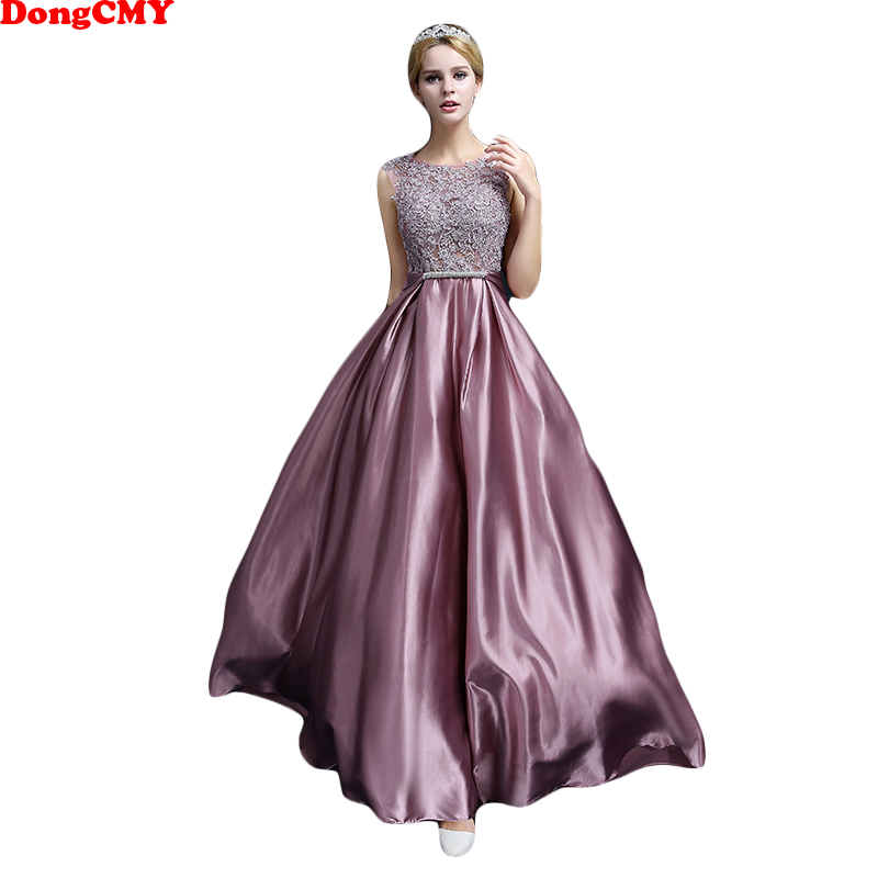 DongCMY Plus size Formal Long Prom Dresses New Sexy 2019 A-Line Floor-length Dress Evening Gown Robe De Soiree