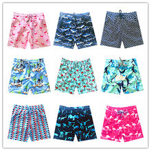 2018 Brand Vilebreq Beach Board Shorts Men Swimwear Flamingo Dolphin Mermaid Turtles Mens Bathing Short Brequin Quick Dry M-XXXL(China)