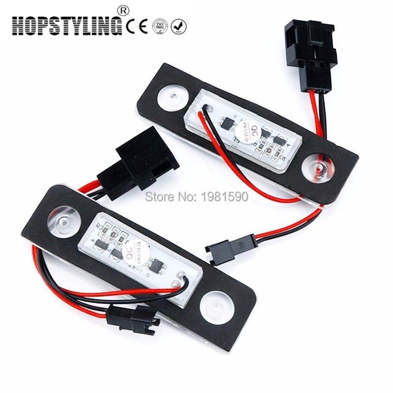 Hpstyling 2pcs avtomobil dizaynı 18 SMD LED nömrəli işıq, Skoda - Avtomobil işıqları - Fotoqrafiya 5