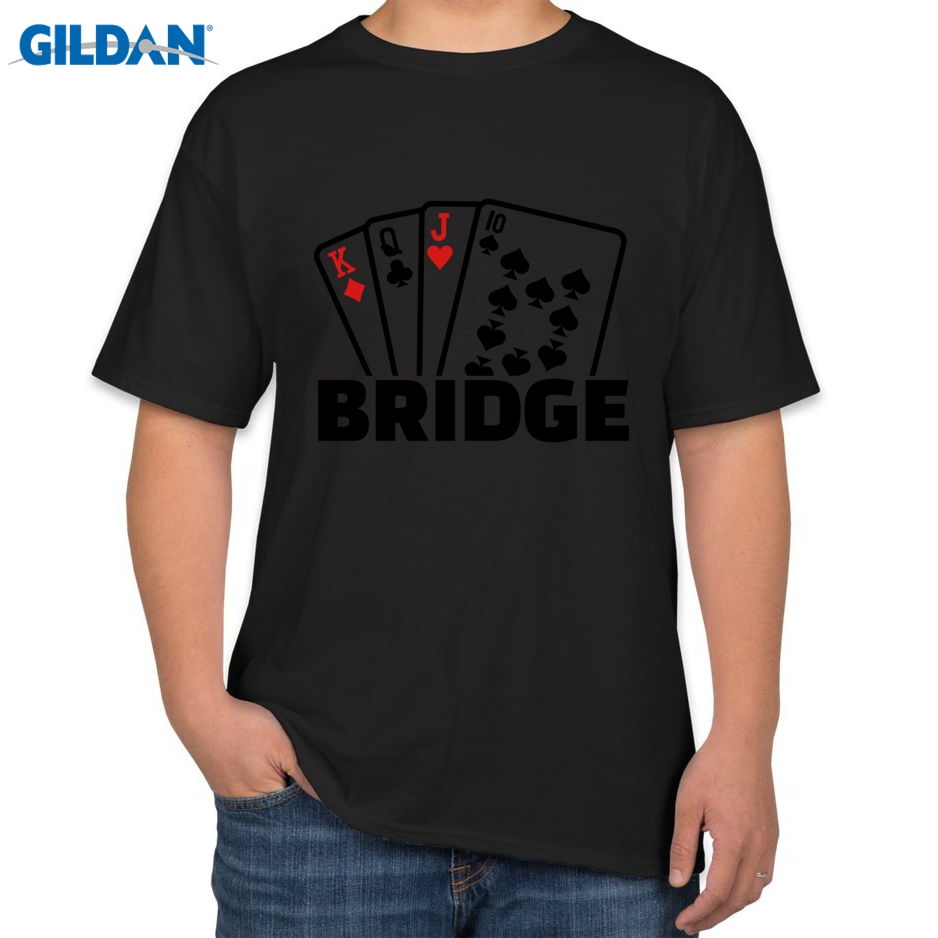 Design t shirt games online - Track Ship 2016 New Poker Design Men Tees T Shirts Bridge Is Not A Game