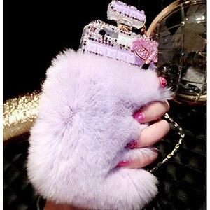 Image 5 - Kürk parfüm şişesi telefon kılıfı iPhone 11 Pro 6 6s 7 8 artı XS Max XR Samsung Galaxy s10 S20 Ultra S8 S9 not 10