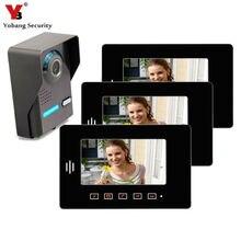 Yobang Security 7″ Inch TFT Touch Screen Video Door Phone Home Security Speakerphone Intercom Night Vision Eye Camera Doorphone