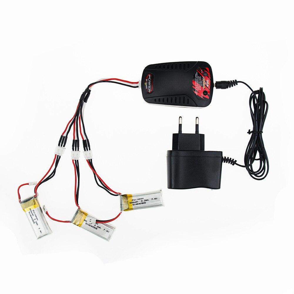 Hilbert 3pcs 7 4V 300mAh LiPo Battery and charger For font b RC b font WLtoys