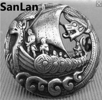 1 pcs homens pingente Viking Nórdico Vikings Amuleto fíbula Definir Broches broche jóias Talismã SanLan