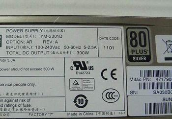 free ship ,300W pc power supply YM-2301D for SD220X4 SD210X4 R512G2,YM-2301D 300W power supply for server C1100 SD220X4 SD210X4