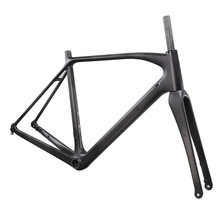 Red and white paint Top Sales EN Standard 3K Glossy Finish  Carbon Cyclocross Frame, Carbon Bicycle Frame. cheap carbon frame mtb 29er disc post mount 3k glossy finish size16 and 18 20 for bike bicycle 2 years warranty
