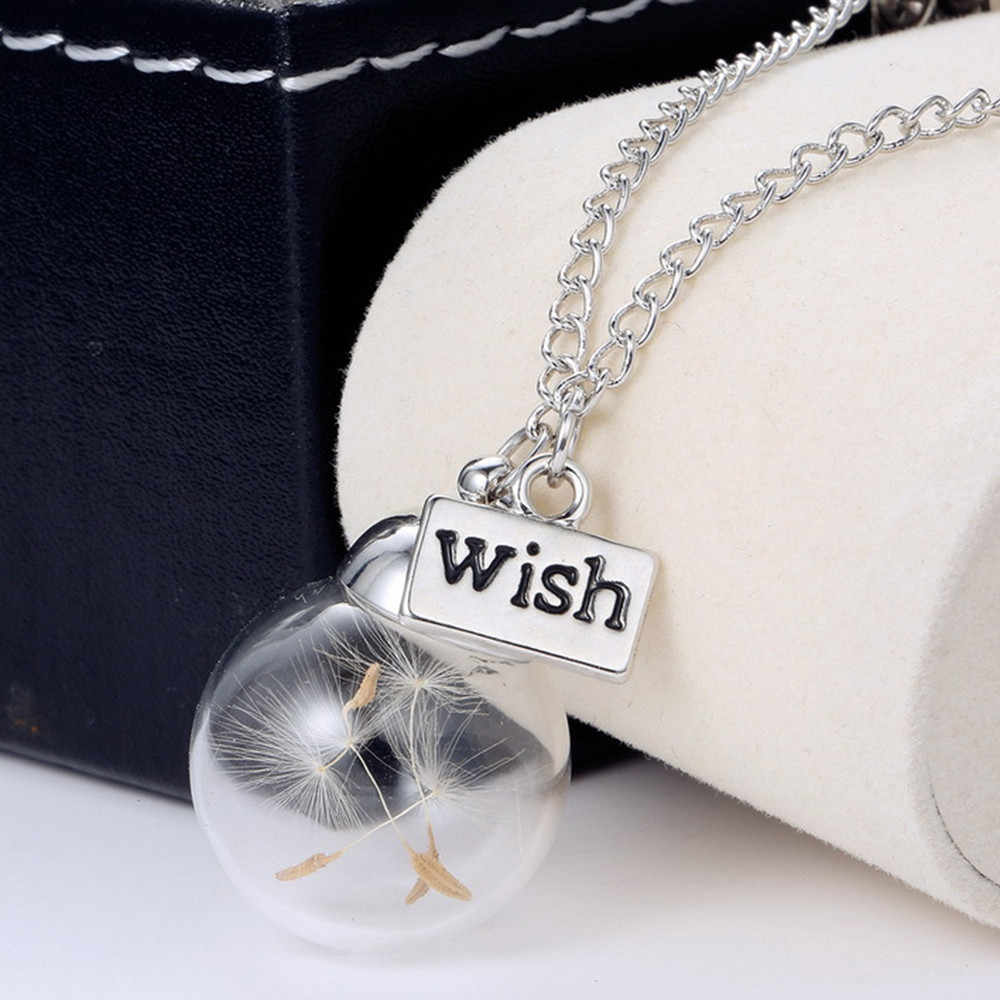 Pendant Necklace Women Necklaces Boho Wish Glass Bottle Chain Necklace Jewelry Choker Pendant Couple Collares De Moda 2019 L0619