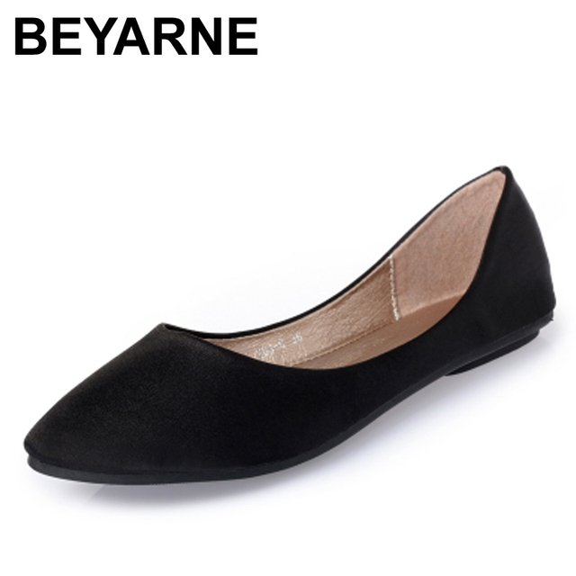 women shoes flats Silks and satins series shallow mouth brief flat ...