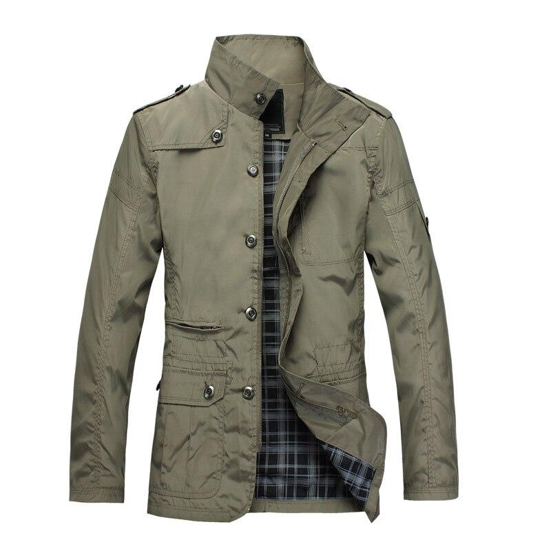 100% Wahr Neue Frühling Mens Mäntel Beiläufige Dünne Windjacke Jacken Fit Slim Stehkragen Mantel Kleidung Herbst Zipper Jacke Männer My034